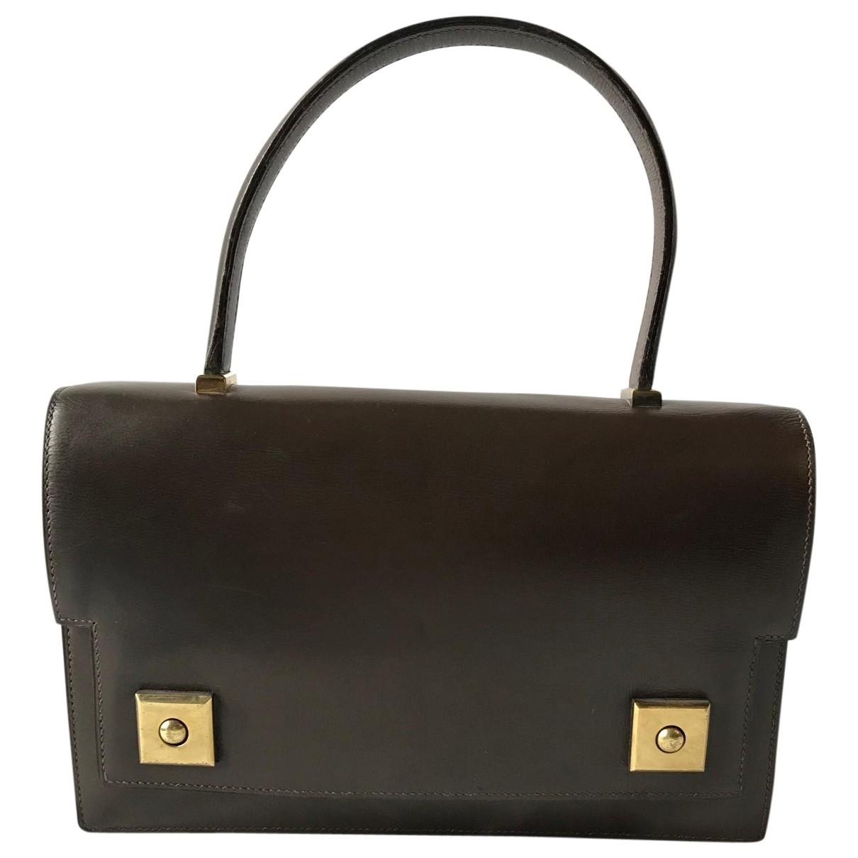 Hermes Piano Handtasche in  Braun Leder