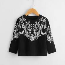 T-Shirt mit Barock Muster