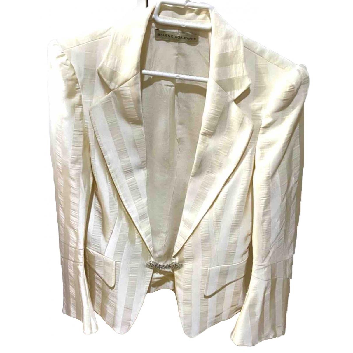 Balenciaga - Veste   pour femme en coton - ecru