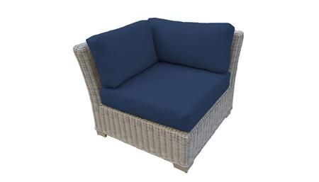 TKC038b-CS-NAVY Corner Chair - Beige and Navy