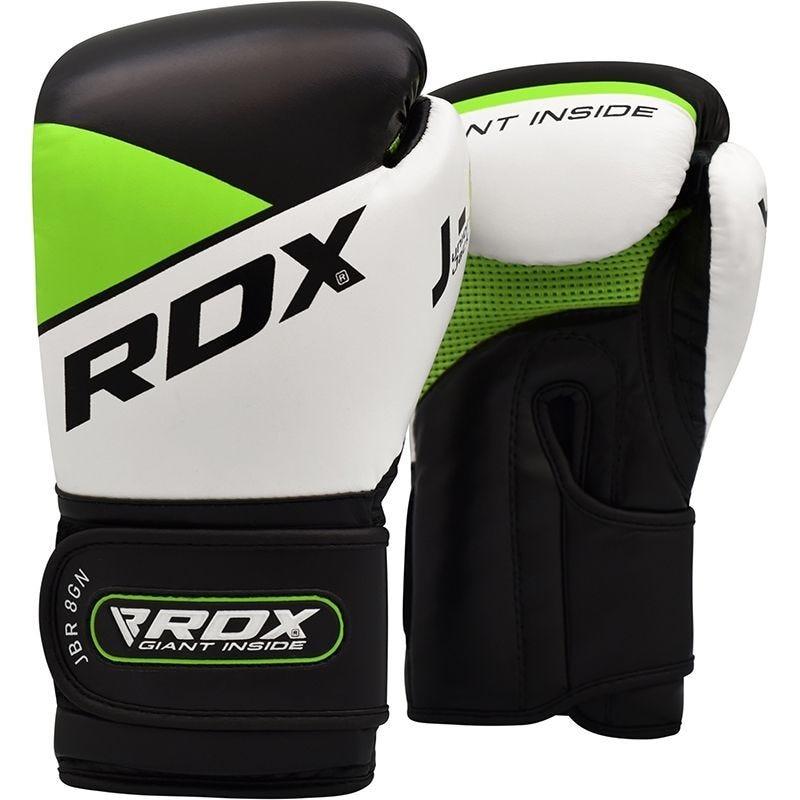 RDX R8 Sparring Boxhandschuhe Kinder Kunstleder mit Gel Polsterung 6oz Gruen