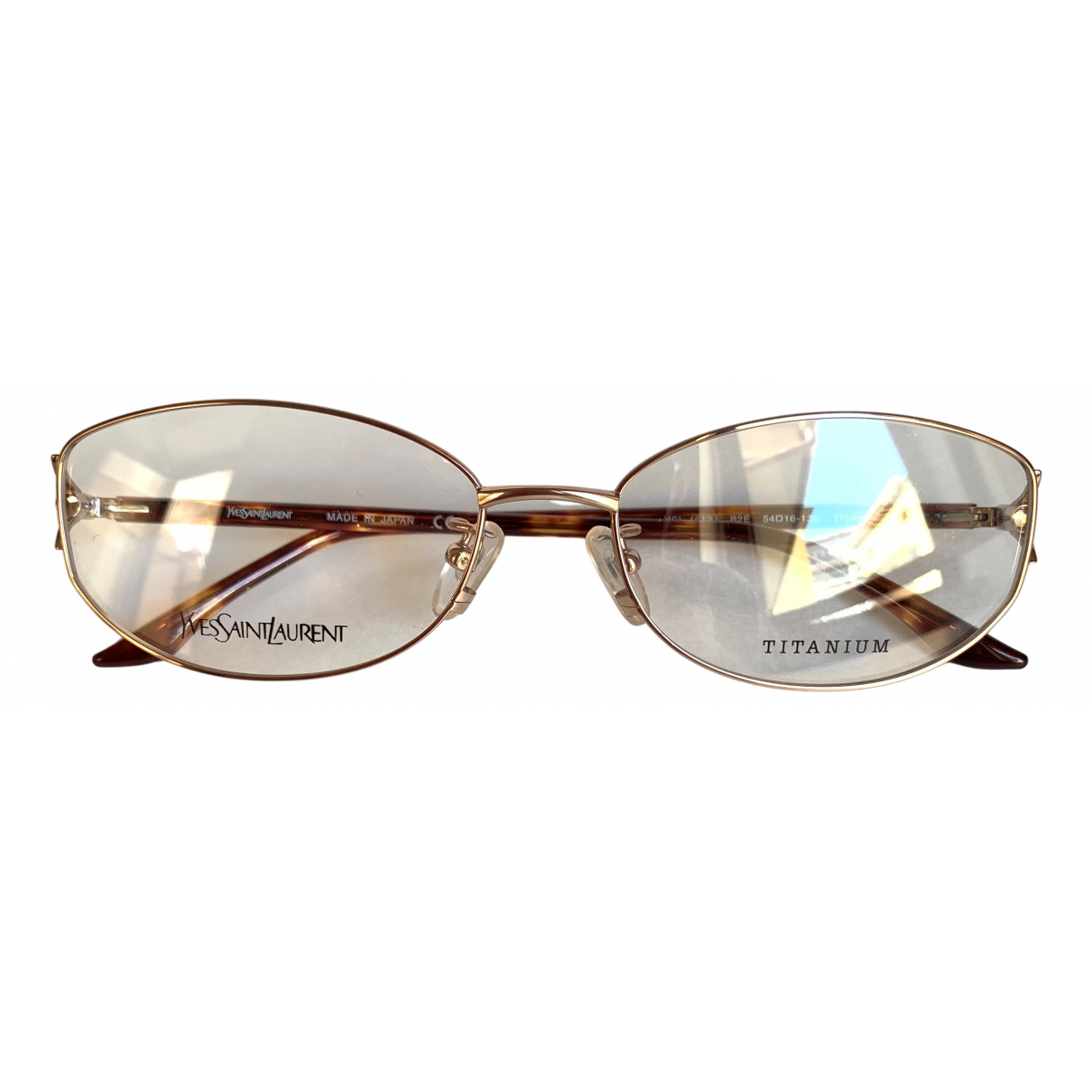 Yves Saint Laurent \N Gold Metal Sunglasses for Women \N