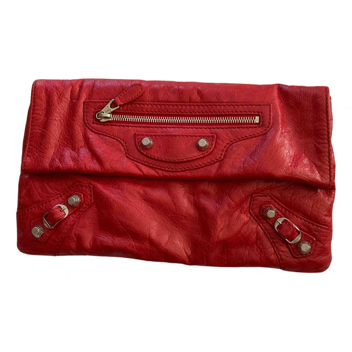 Balenciaga - Pochette Envelop pour femme en cuir - rouge