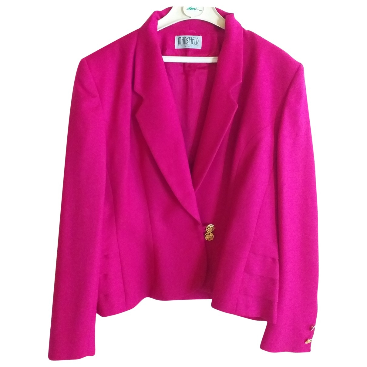 Non Signé / Unsigned \N Pink Wool jacket for Women 14-16 US