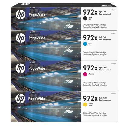 HP 972X cartouche d'encre PageWide originale combo haute capacité BK/C/M/Y