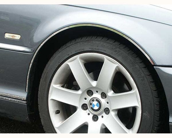 Quality Automotive Accessories 4-Piece Stainless Steel Wheel Well Fender Trim Kit BMW 330i 2001