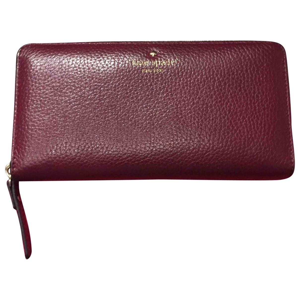 Kate Spade \N Burgundy Leather Purses, wallet & cases for Women \N