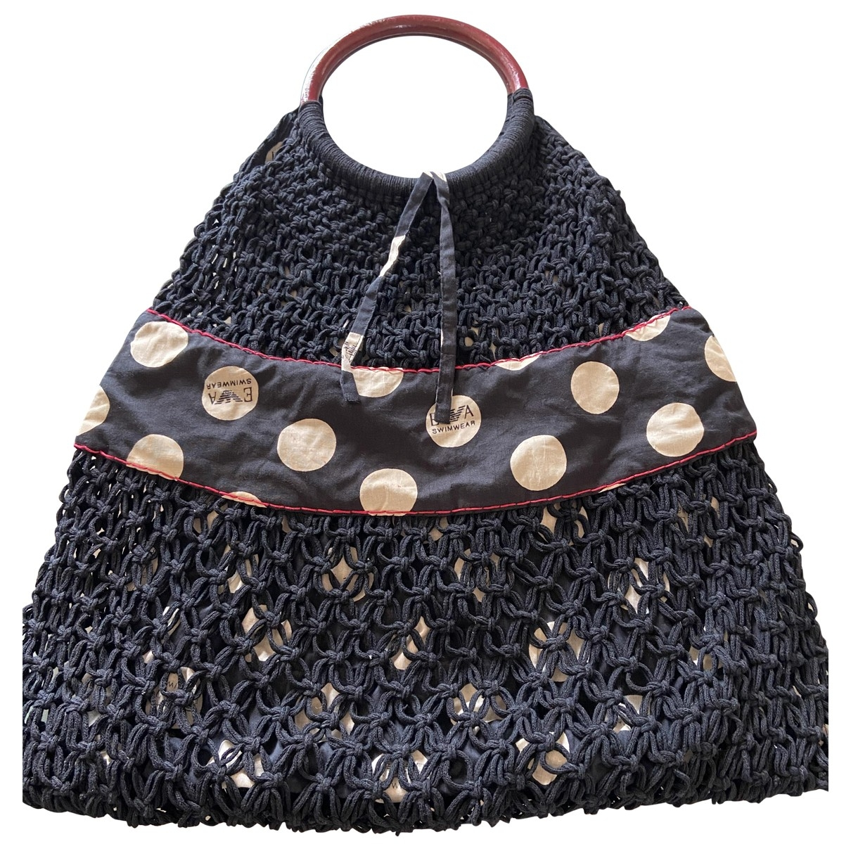 Emporio Armani \N Black Cotton handbag for Women \N