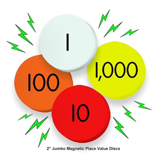Sensational Math™ 4-Value Jumbo Magnetic Place Value Demonstration Discs Set | Michaels®