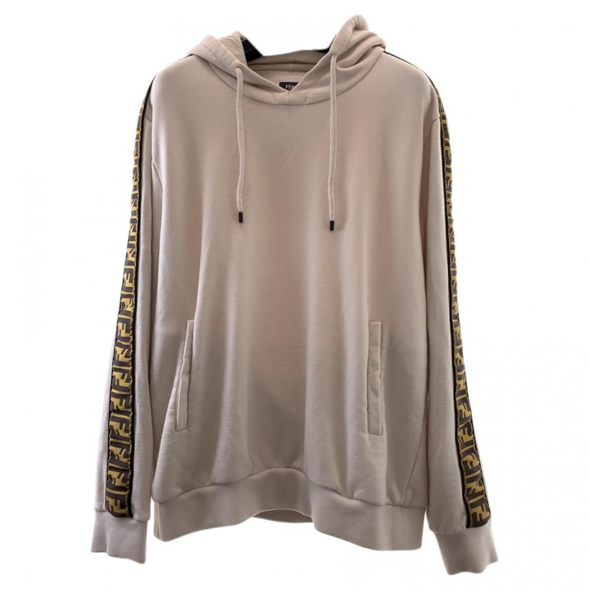 Fendi \N Pullover.Westen.Sweatshirts  in  Beige Baumwolle