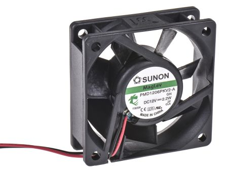 Sunon , 12 V dc, DC Axial Fan, 60 x 60 x 20mm, 39.95m³/h, 2.2W