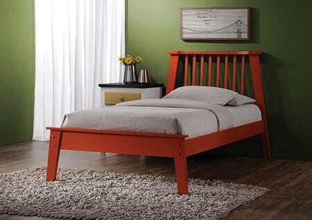 Marlton Collection 25410QN 2 PC Bedroom Set with Queen Size Bed + Nightstand in Orange