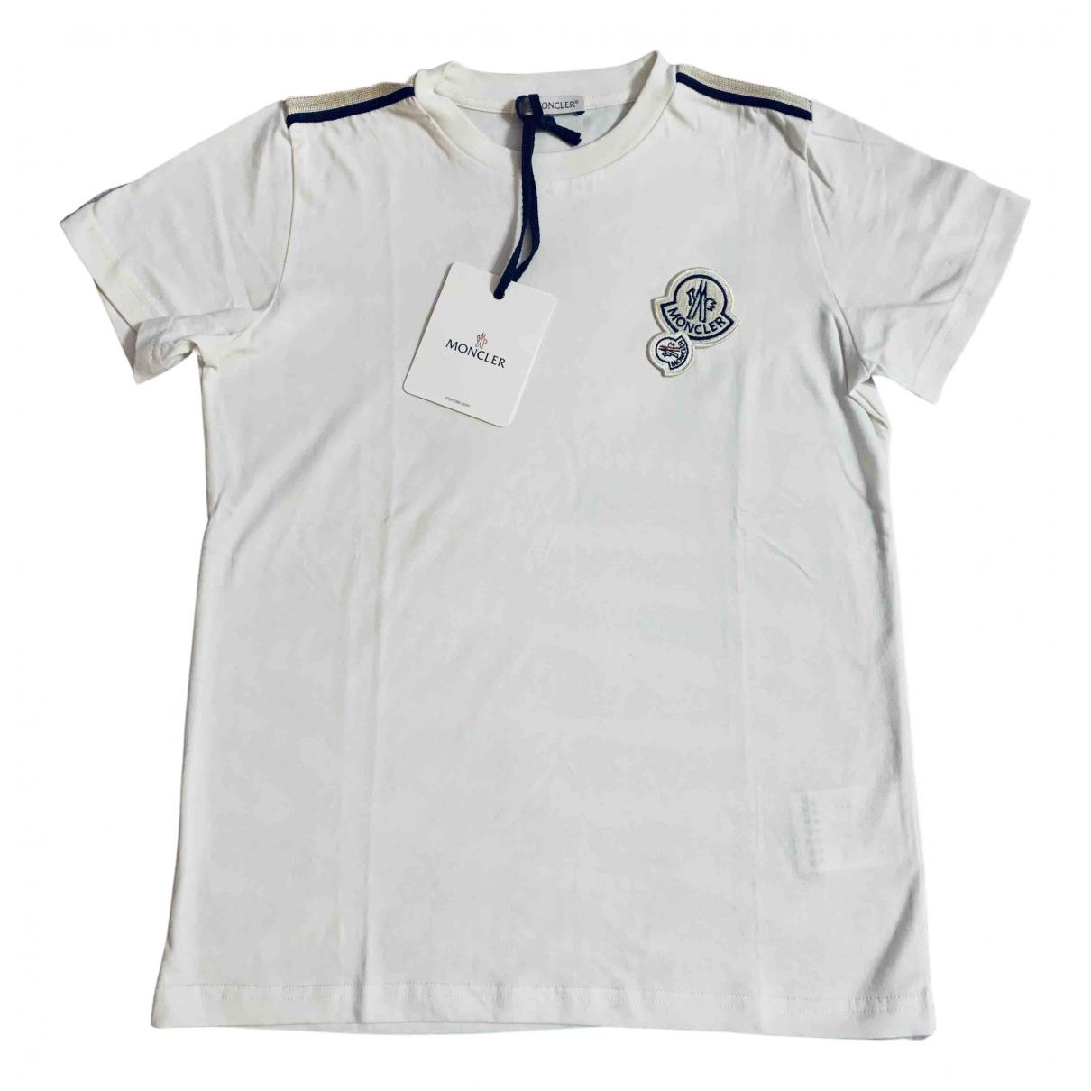 Moncler - Top   pour enfant en coton - blanc