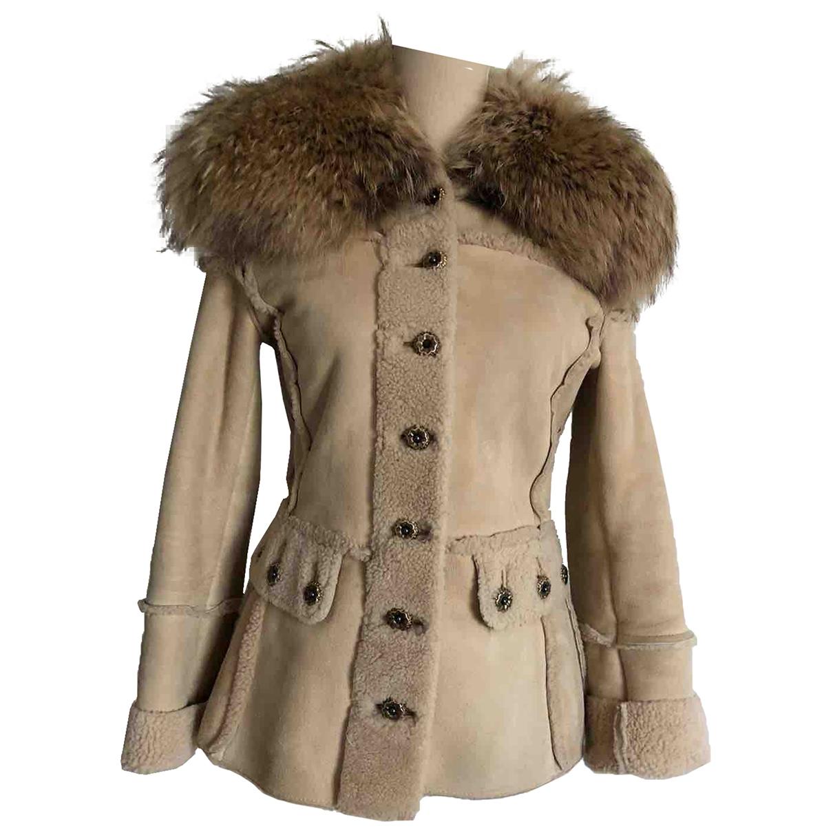 Dolce & Gabbana \N Beige Shearling coat for Women 40 IT
