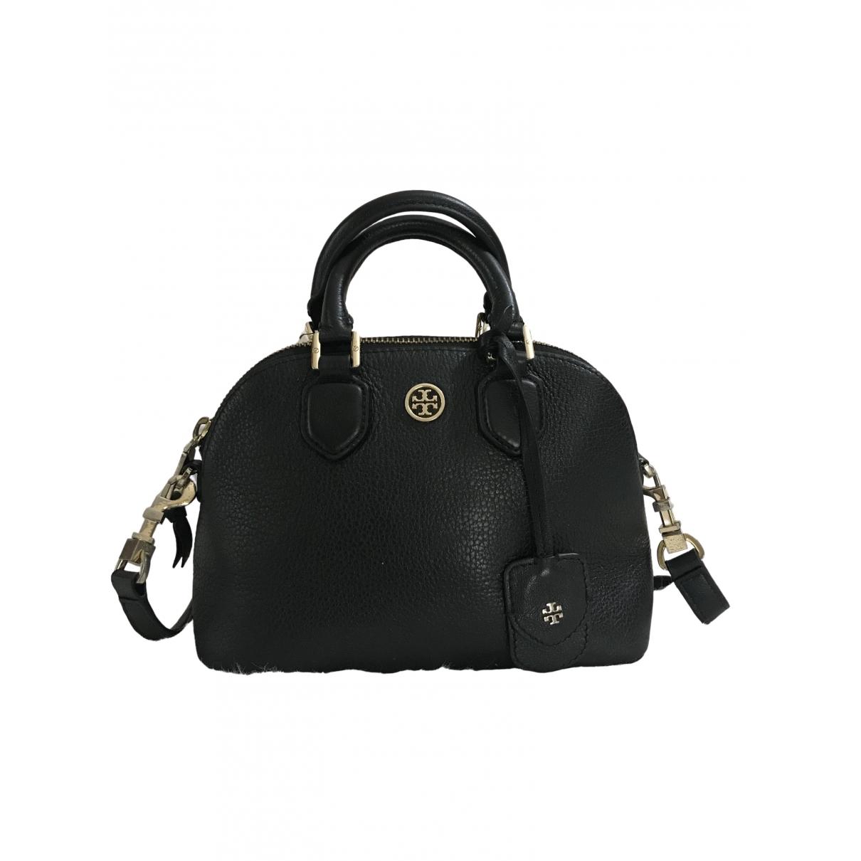Tory Burch \N Handtasche in  Schwarz Leder