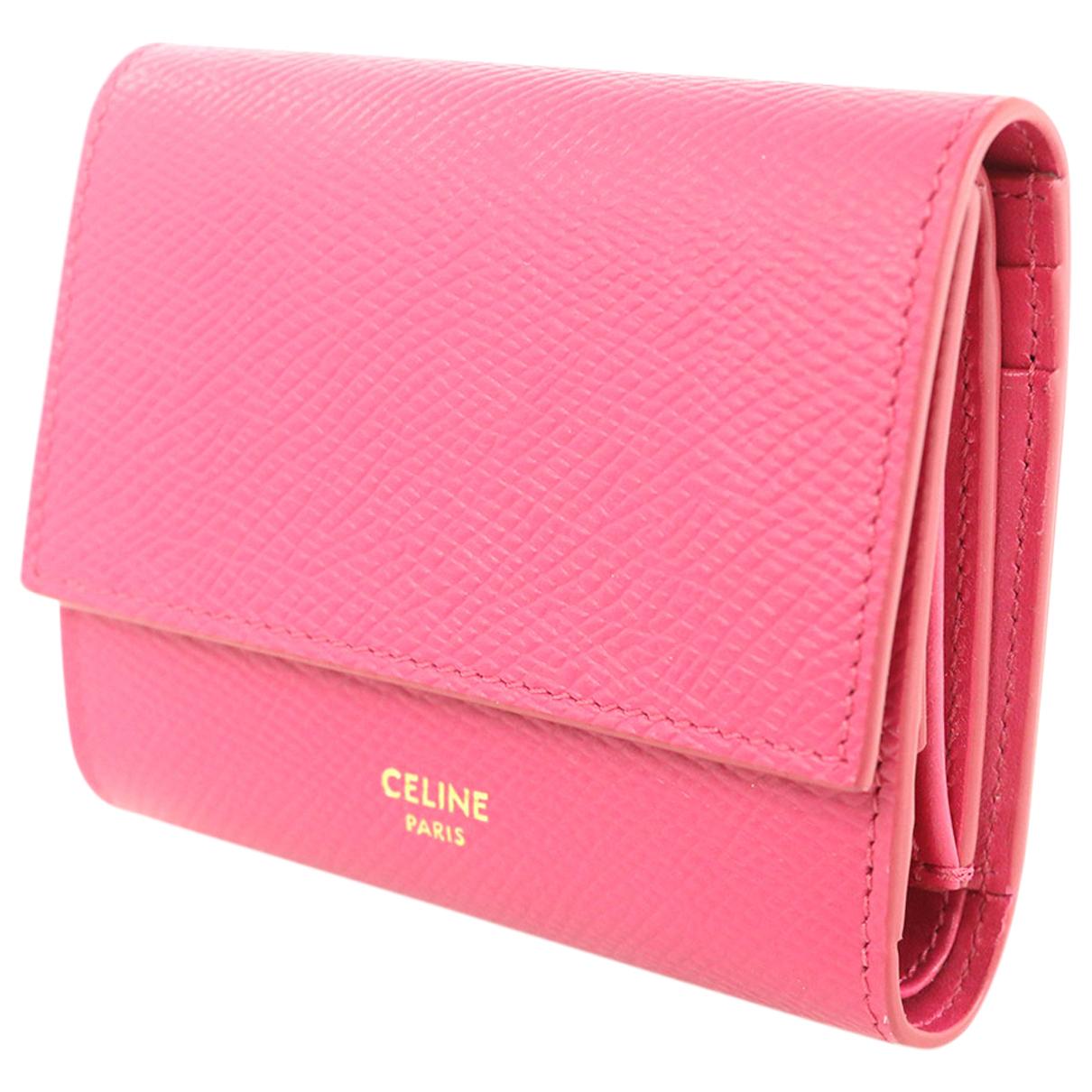 Celine \N Portemonnaie in  Rosa Leder