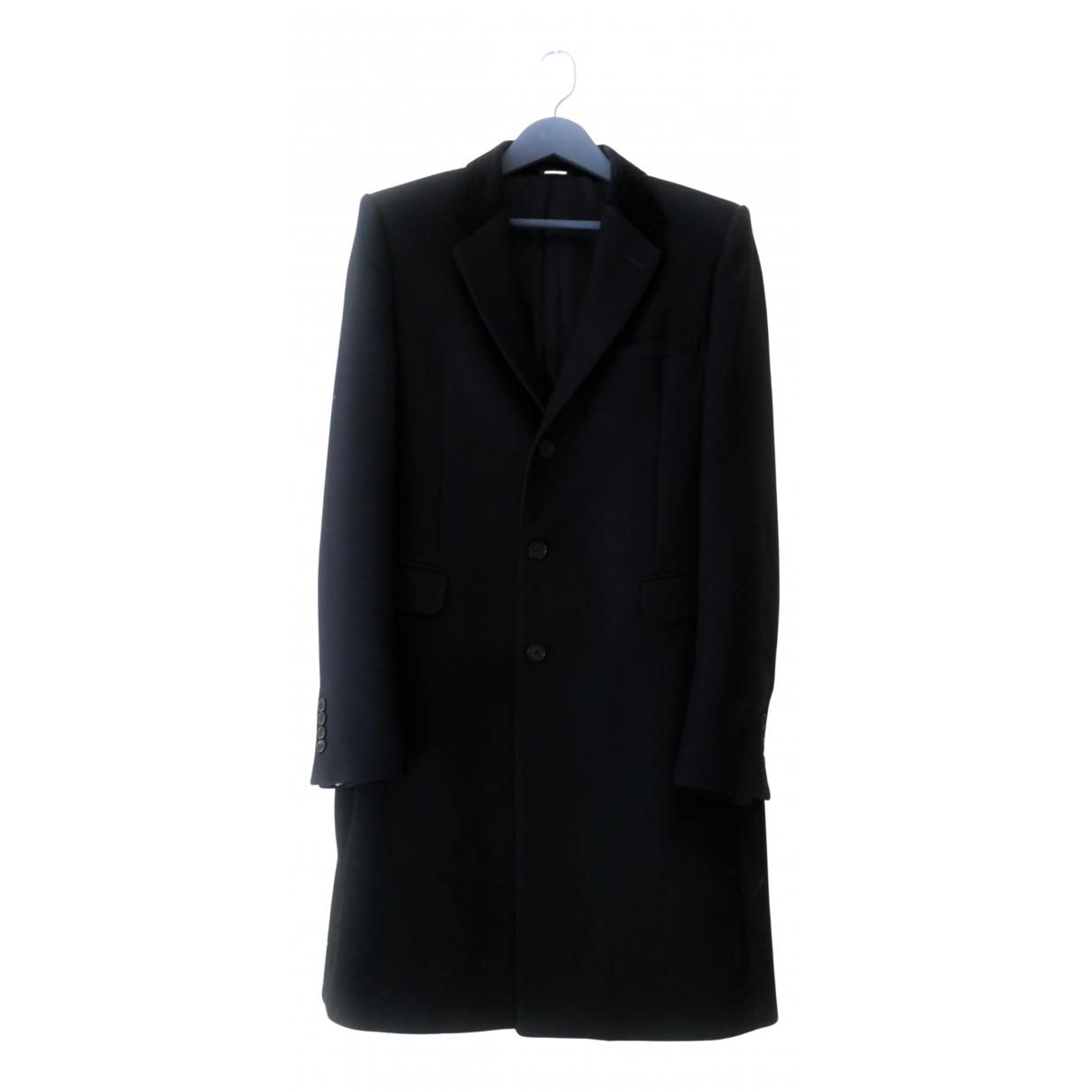 Alexander Mcqueen - Manteau   pour homme en laine - noir