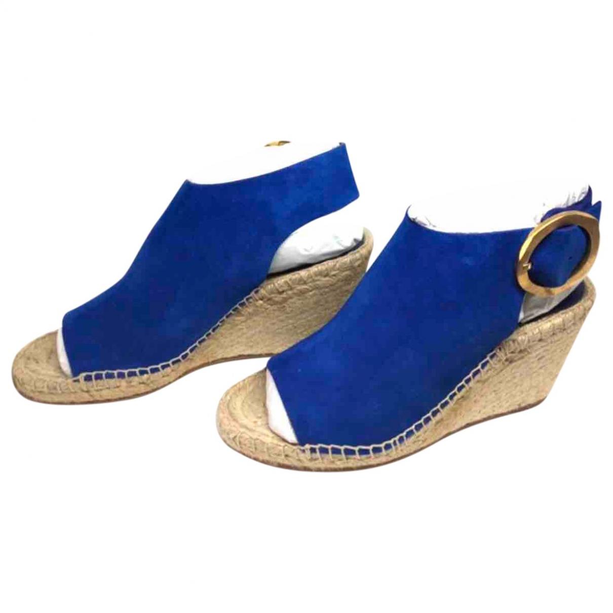 Celine \N Espadrilles in  Blau Veloursleder