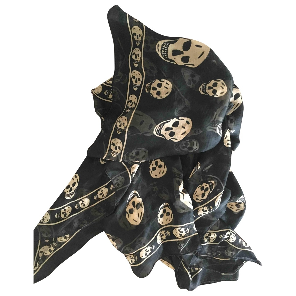 Alexander Mcqueen \N Black Silk scarf for Women \N
