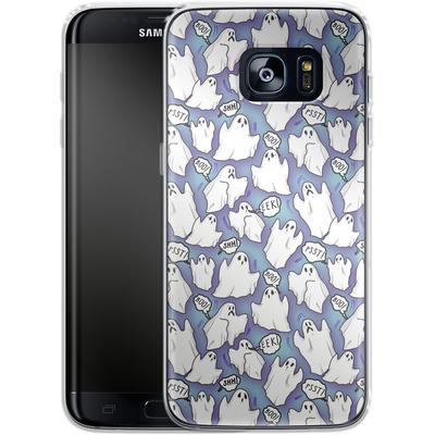 Samsung Galaxy S7 Edge Silikon Handyhuelle - Ghost Pattern von caseable Designs