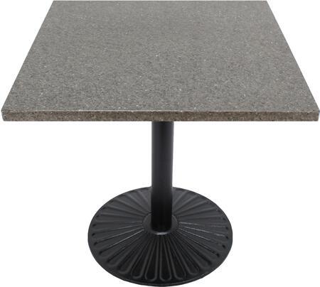 Q405 30X30-Z14-22H 30x30 Storm Gray Quartz Tabletop with 22