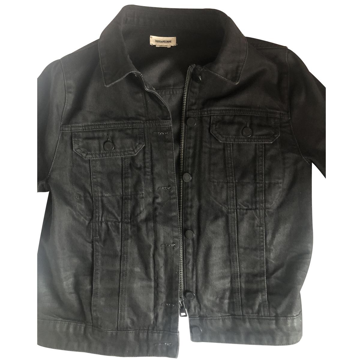 Zadig & Voltaire \N Jacke in  Schwarz Denim - Jeans