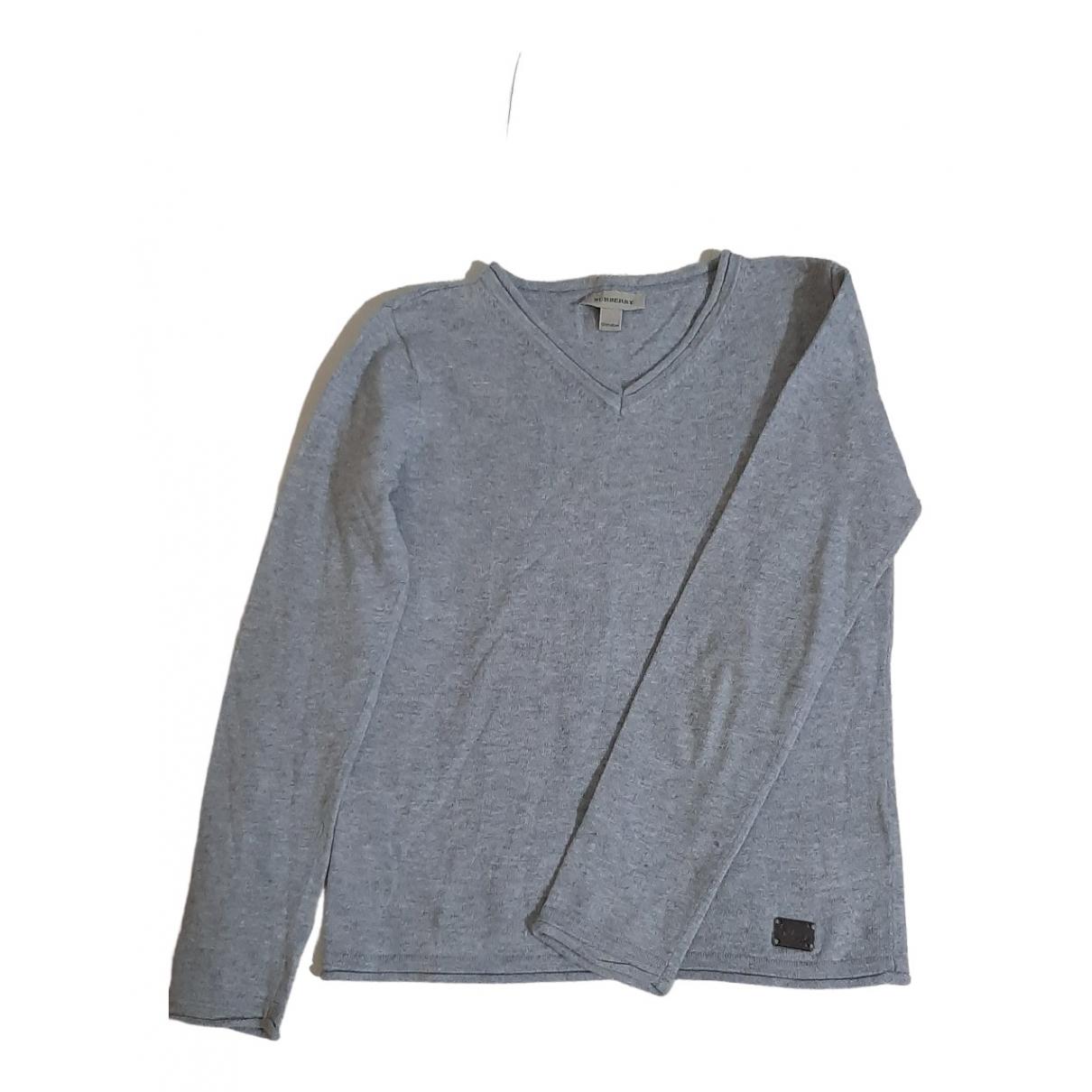 Burberry - Pull   pour enfant en coton - gris