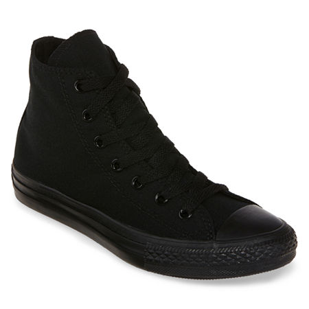 Converse Chuck Taylor All Star Kids Unisex High-Top Sneakers, 1 Medium, Black