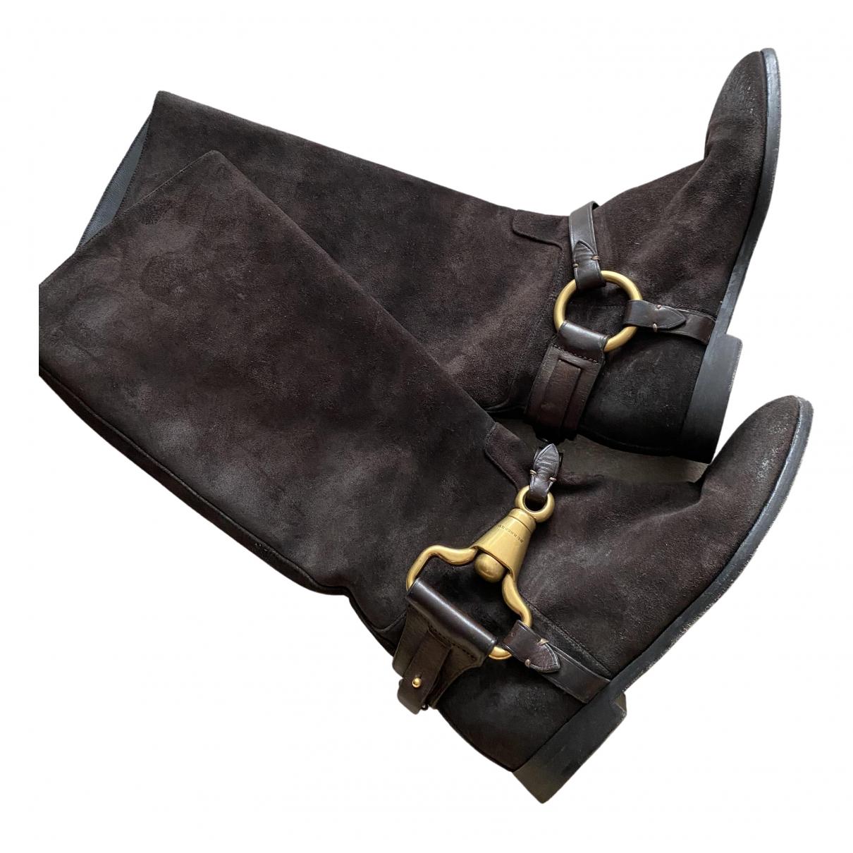 Burberry \N Stiefel in  Braun Veloursleder