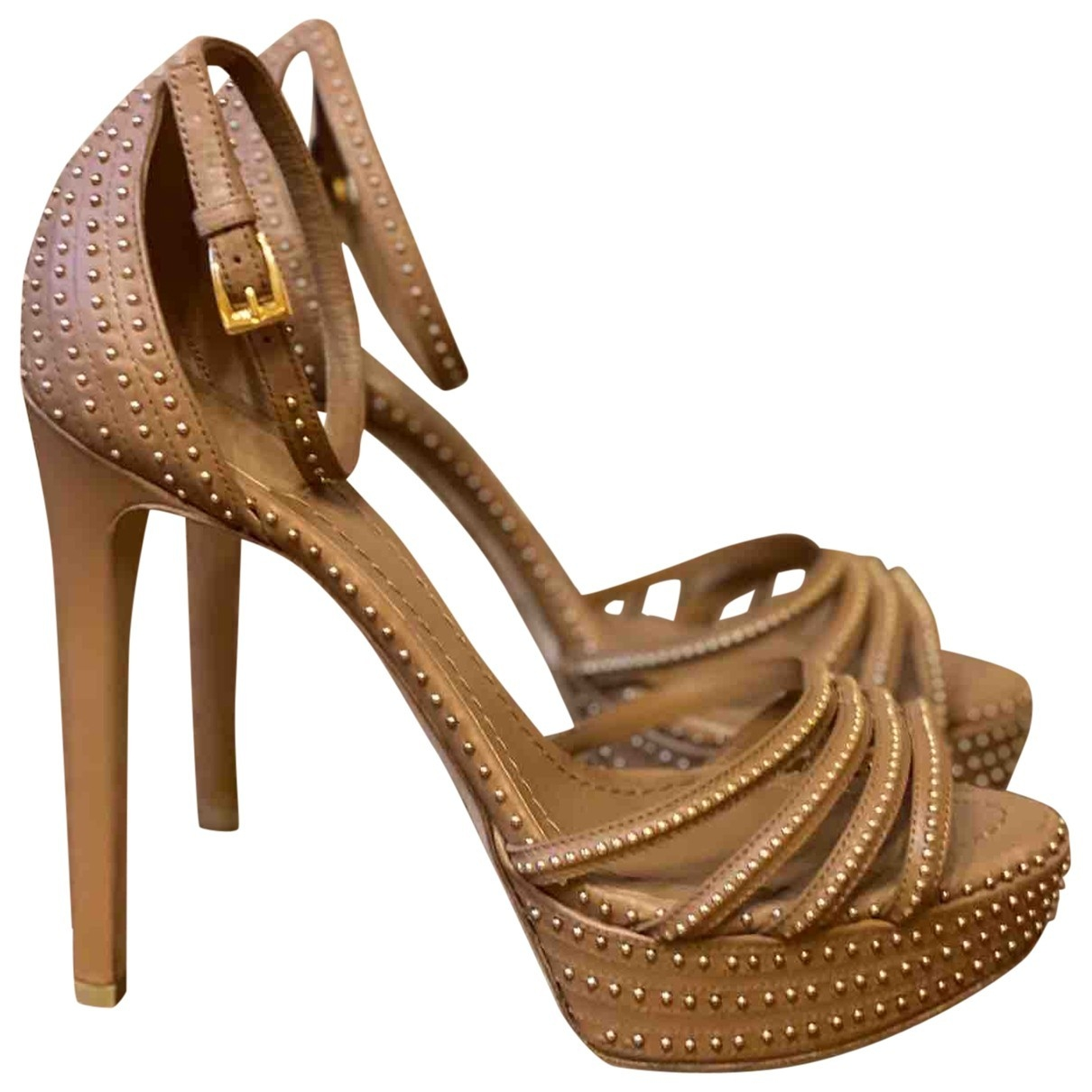 Dior \N Brown Leather Sandals for Women 39 EU