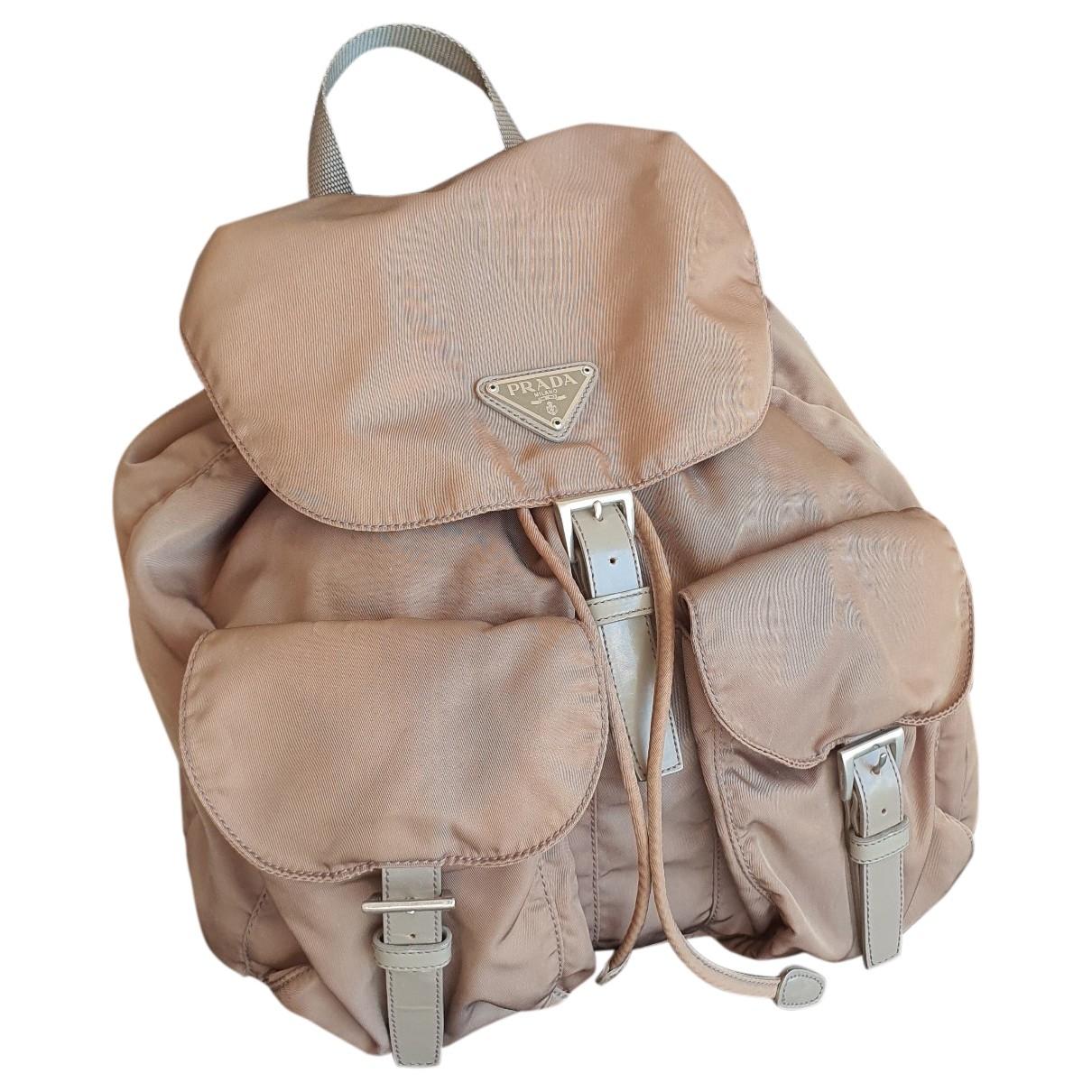 Prada \N Khaki Linen backpack for Women \N