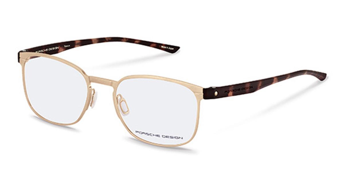 Porsche Design P8353 B Men's Glasses Gold Size 54 - Free Lenses - HSA/FSA Insurance - Blue Light Block Available