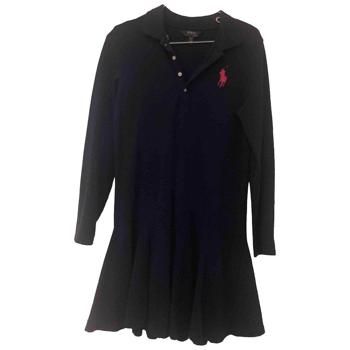 Polo Ralph Lauren - Robe    pour enfant en coton - bleu