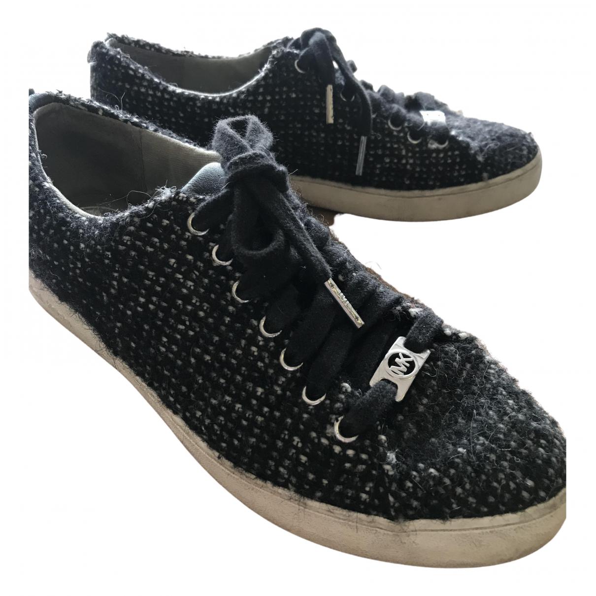 Michael Kors - Baskets   pour femme en cuir - noir