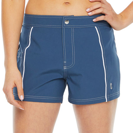 Free Country Swim Shorts Swimsuit Bottom, Medium , Gray