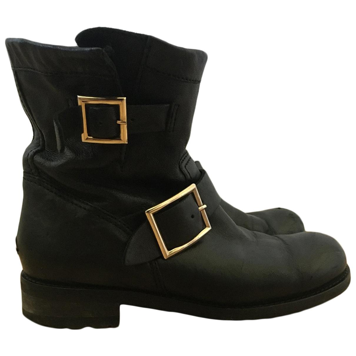 Jimmy Choo \N Black Leather Boots for Women 36 EU