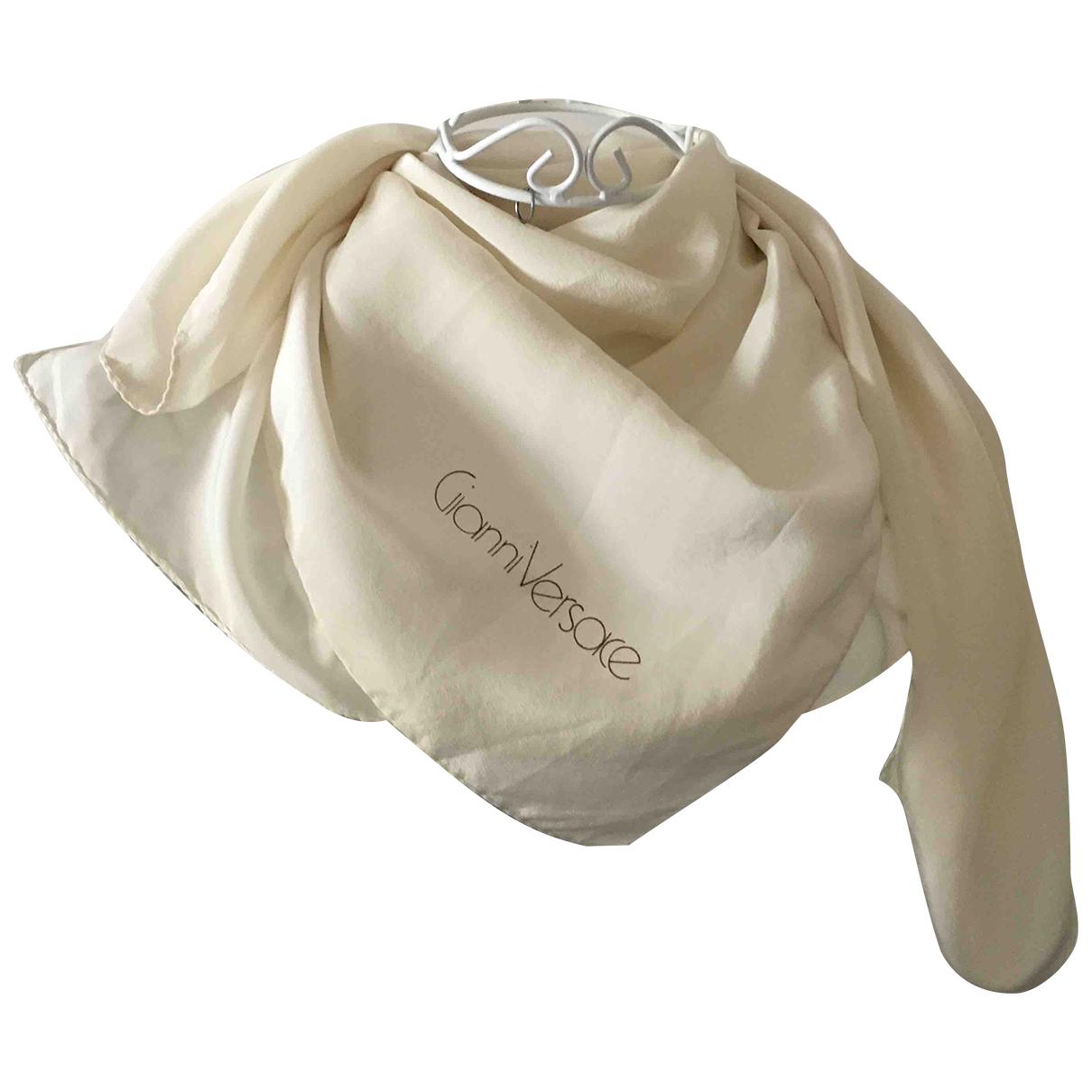 Gianni Versace - Foulard   pour femme en soie - ecru
