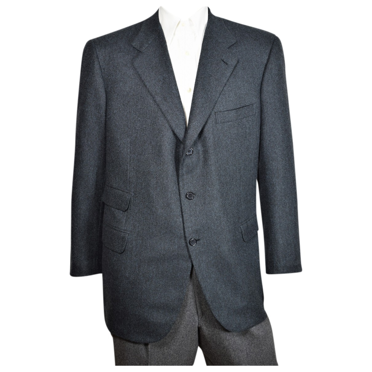 Brioni - Vestes.Blousons   pour homme en cachemire - gris