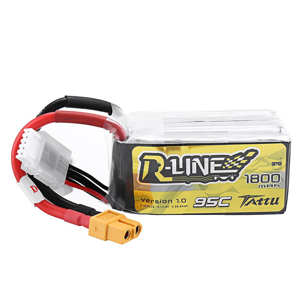 TATTU R-LINE Version 1.0 14.8V 1800mAh 95C 4S Lipo Battery for RC Quadcopter FPV Racing Drone