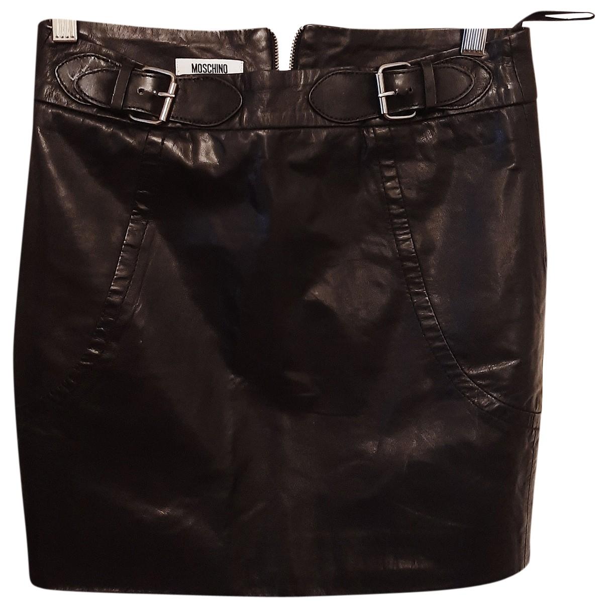 Moschino Cheap And Chic - Jupe   pour femme en cuir - noir