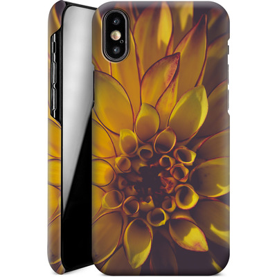 Apple iPhone XS Smartphone Huelle - Yellow Dahlia von Joy StClaire