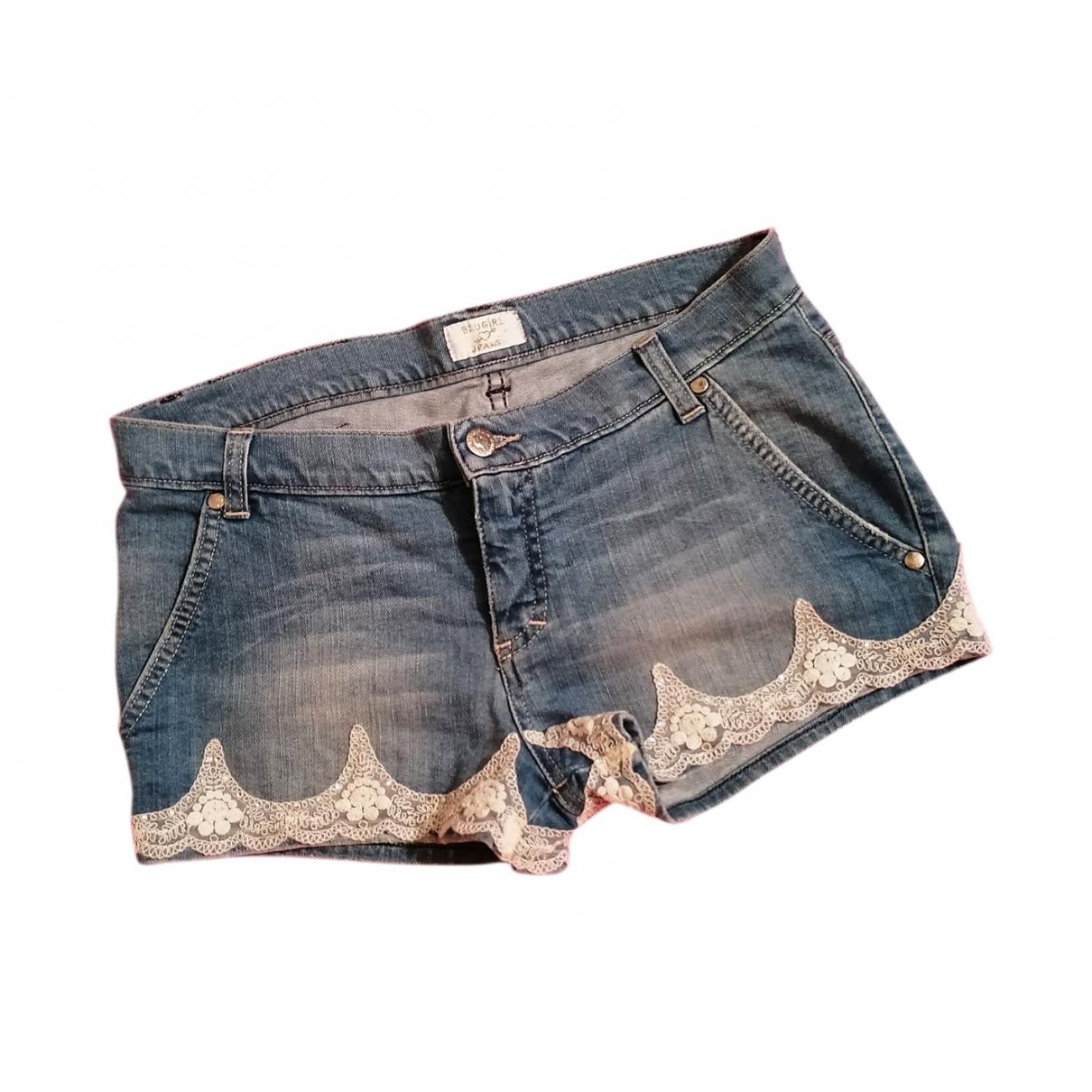 Blumarine \N Navy Denim - Jeans Shorts for Men S International