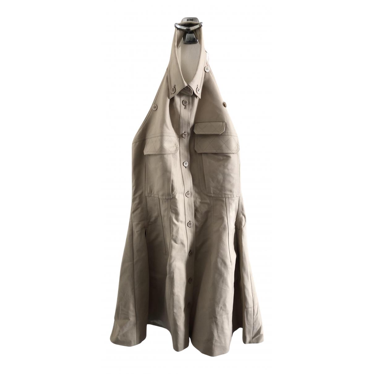 Kenzo \N Kleid in  Beige Baumwolle