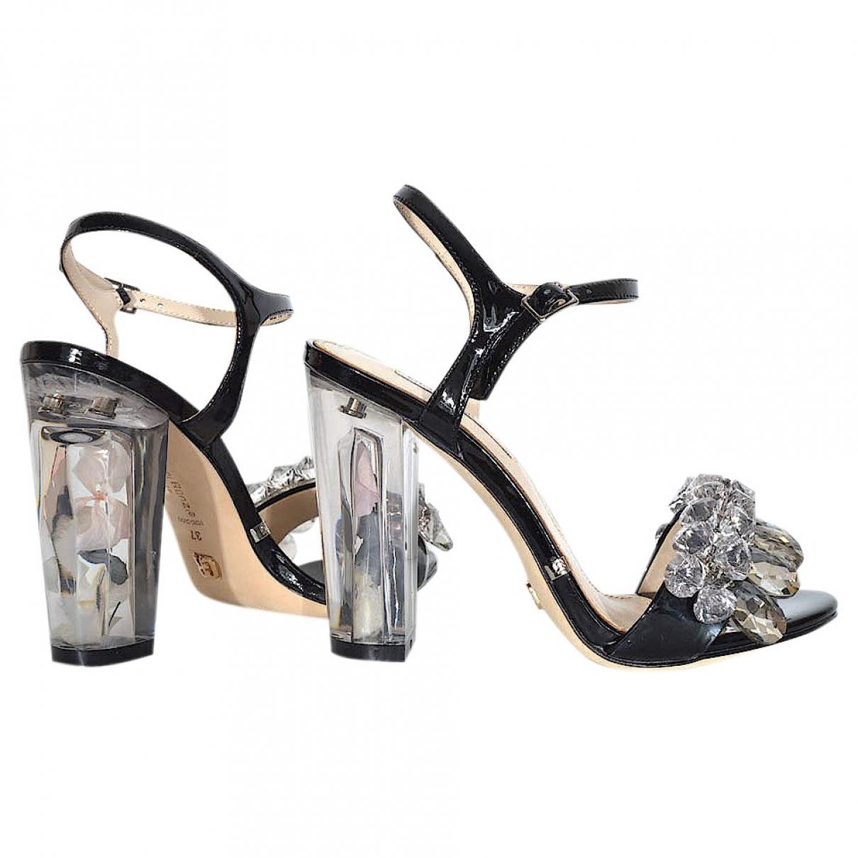 Gianmarco Lorenzi \N Black Leather Heels for Women 37 EU