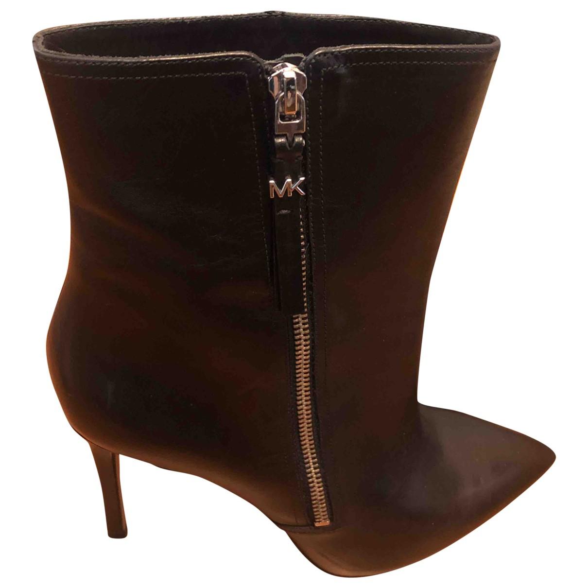 Michael Kors N Black Leather Boots for Women 41 EU