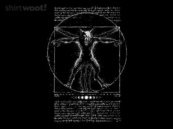 Vitruvian Wolfman T Shirt