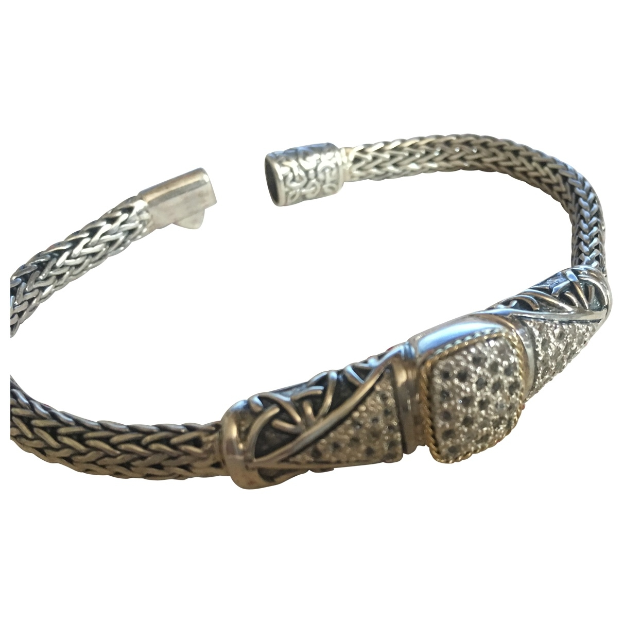 Non Signe / Unsigned Jonc Armband in  Silber Silber