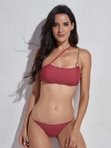 Chain Linked Thong Bikini Swimsuit