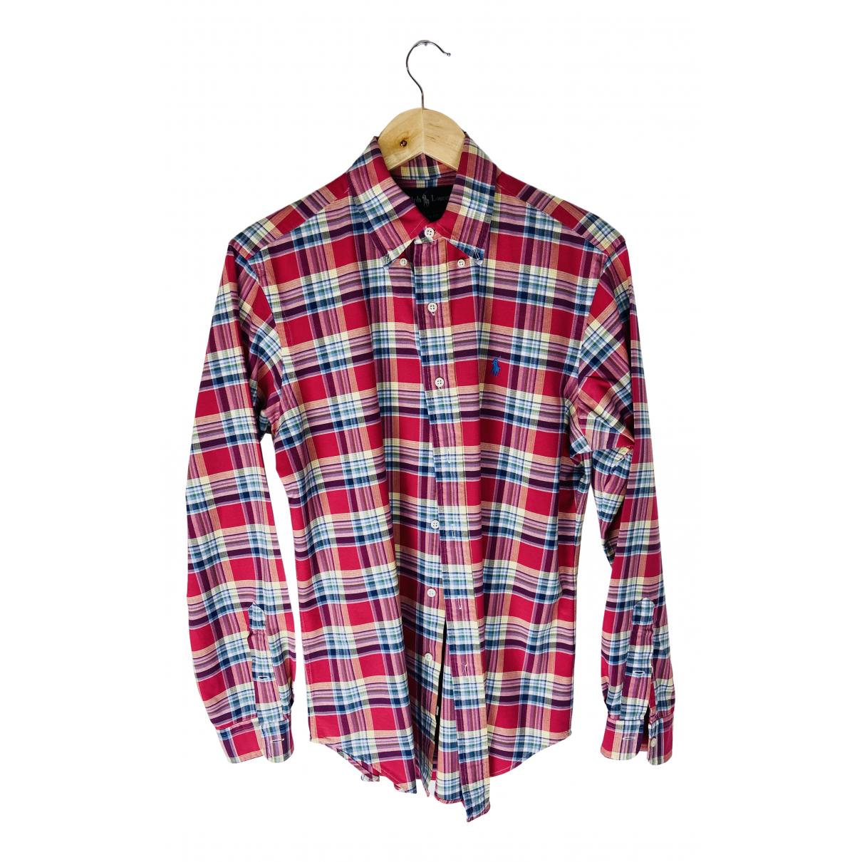 Ralph Lauren - Chemises   pour homme en coton - rouge