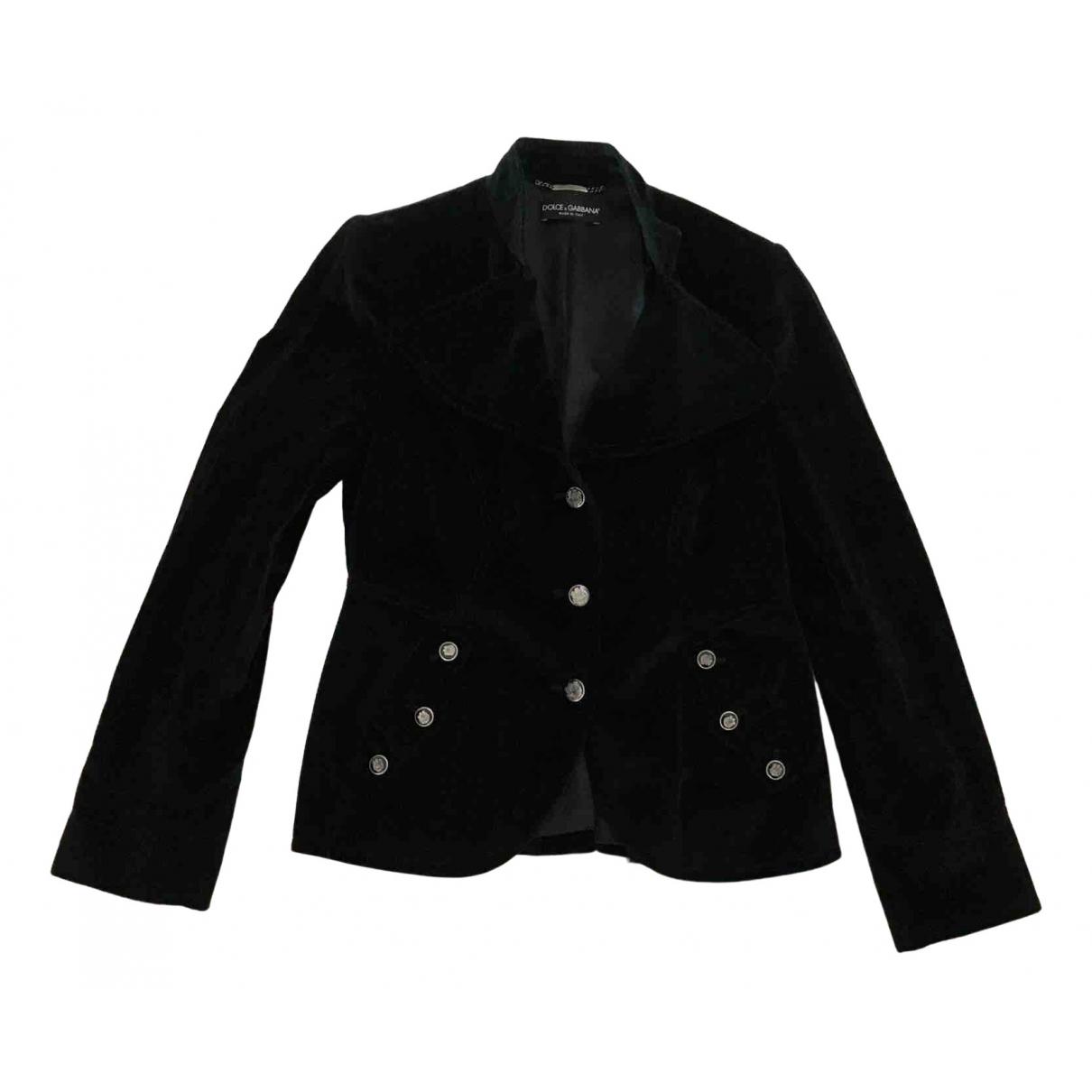 Dolce & Gabbana - Veste   pour femme en velours - noir